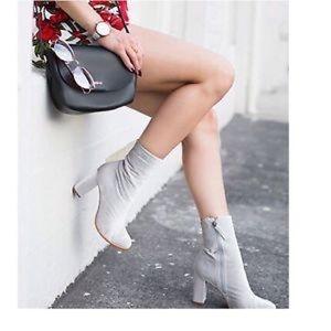 Matisse grey velvet booties size 9